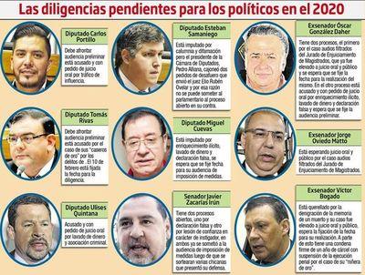 Casos de políticos acusados por corrupción en etapa final