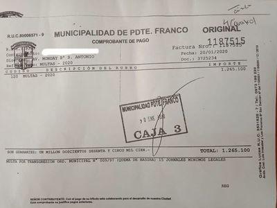 Primera multa por quema de basura en Franco