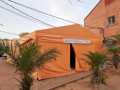 San Lorenzo: habilitan carpa climatizada para pacientes con síntomas de dengue