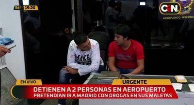 Dos jóvenes caen con cocaína a punto de partir a Europa