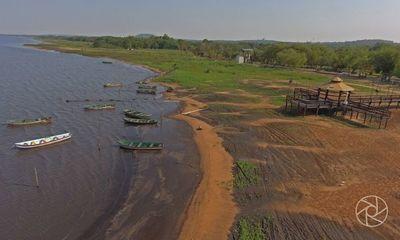 Bajante del Lago Ypacaraí por falta de muro de contención