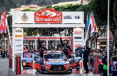 WRC2020: Thierry Neuville fue el mejor en Montecarlo