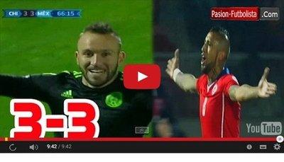 Chile vs Mexico (3-3) Goles Resumen Resultado Copa America 2015
