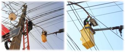 ANDE moderniza sistema de iluminación pública en acceso al microcentro