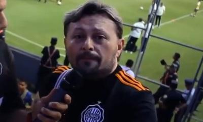 Héctor Ramos molesto con directivos del club Libertad