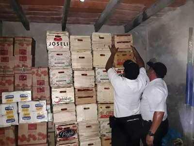 Incautan productos que serían de contrabando en Itá Enramada