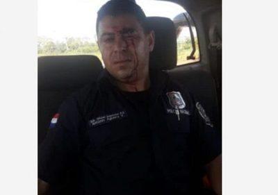 Un policía resulta herido en enfrentamiento con labriegos