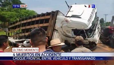 Al menos cuatro muertos en accidente en San Pedro