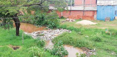 Denuncian mini vertedero en cauce del Arroyo Damián en Limpio