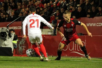El Mirandés sorprende y elimina al Sevilla de la Copa del Rey