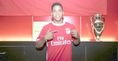 Derlis Mereles ya fue presentado al Benfica