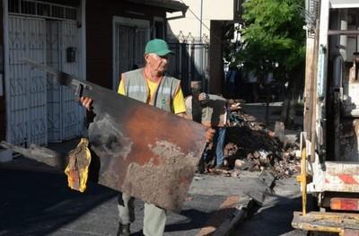 Asunción: Municipio repara calles luego del temporal