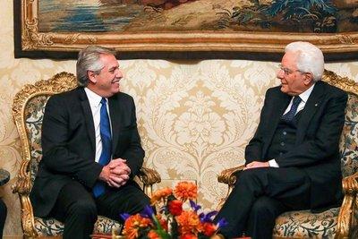 Alberto Fernández confirmó que Italia dio «importante apoyo para resolver el problema de la deuda»