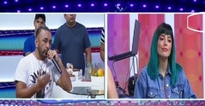 Churero y Kasandra Frutos se vieron las caras en tv