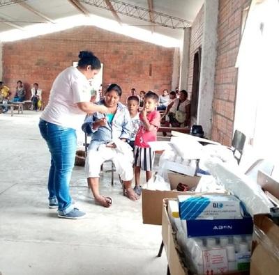 Comunidades indígenas de difícil acceso del Chaco tuvieron asistencia de Salud