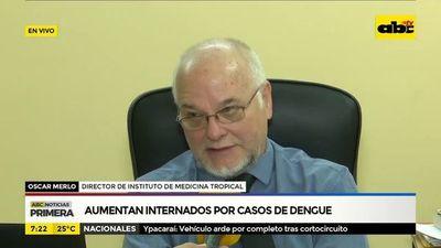 Aumentan internados por casos de dengue