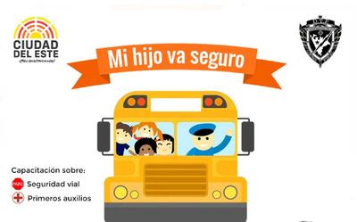 Capacitarán a conductores de transporte escolar y universitario