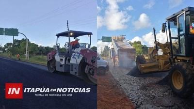 AVANZA ASFALTADO EN TRAMO MA. AUXILIADORA- TAVA'I