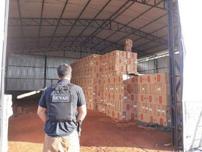 Desmantelan red de contrabando y hallan cigarrillos de Tabesa