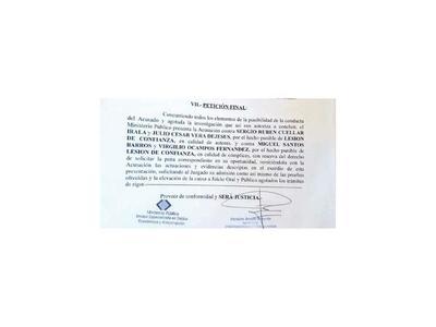 Fiscalía pide juicio oral y público para intendente de Fuerte Olimpo