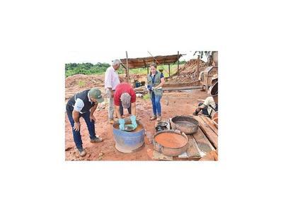 Allanan mina de oro que opera de manera irregular en Guairá