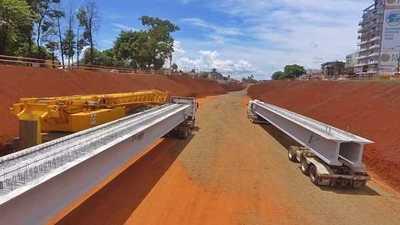 Llegan vigas de hormigón para el Multiviaducto del kilómetro 7