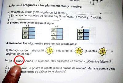 """MEC: todavía no deciden cómo """"parchar"""" los errores en los libros de matemáticas"""