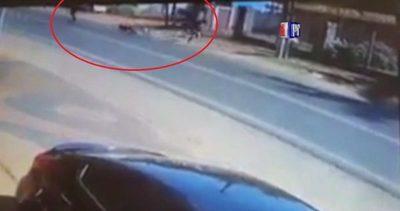 Se enfrentó a motochorros armados para salvar a mujer