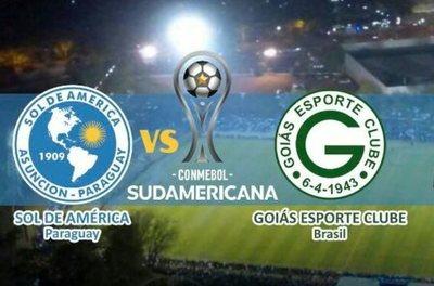 Este martes Sol de América recibe al Goias de Brasil por la Copa Sudamericana