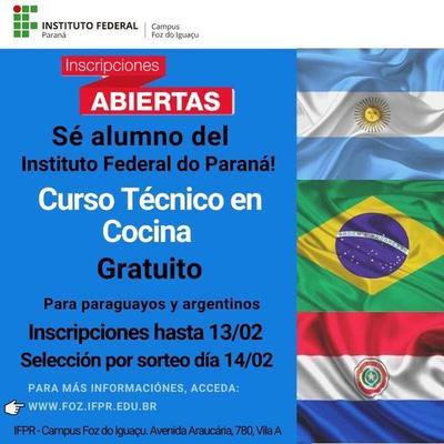 Habilitan cupos para extranjeros en el Instituto Federal de Paraná