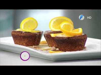 Pasta con curry estilo Singapur y Cup cakes de almendras y naranja