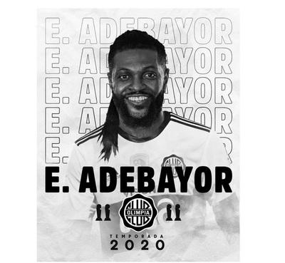 Olimpia oficializa llegada de Emmanuel Adebayor