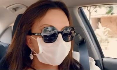 Zuni Castiñeira criticada por usar tapabocas contra el dengue