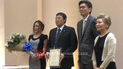 SHUNSUKE ODA RECIBE CERTIFICADO DE EMBAJADOR DE BUENA VOLUNTAD DE LA COCINA JAPONESA.