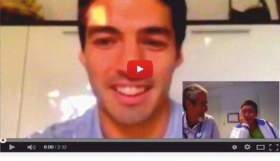 Creyó que hablaba con el médico, pero se trataba de Luis Suárez (VÍDEO)