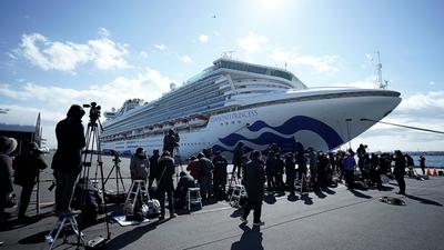 Se elevan a 175 los casos de coronavirus vinculados al crucero en cuarentena en Japón