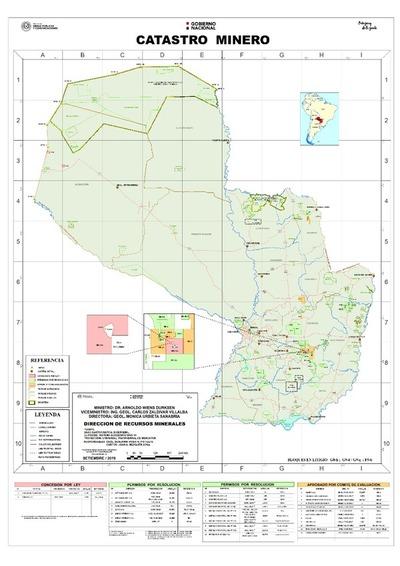 Mapa de catastro Minero del Viceministerio de Minas y Energía