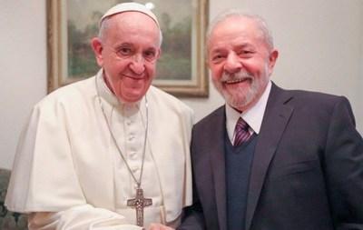 El Papa Francisco recibe a Lula da Silva en el Vaticano