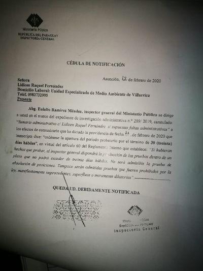 Fiscala que denunció acoso de su jefe afirma que ahora la amedrentan