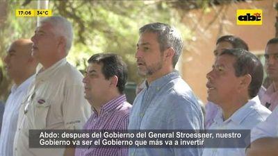 Abdo anuncia obras y reivindica dictadura de Stroessner
