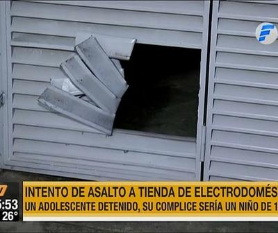 Dos menores intentaron asaltar un local de electrodomésticos, uno tendría 10 años