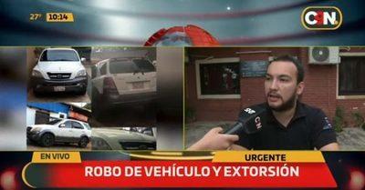 Denuncian robo de camioneta y posterior extorsión