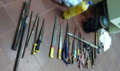 Incautan armas de fabricación casera dentro de penitenciaría de San Pedro