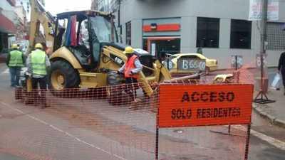 Rehabilitarán calles intervenidas por alcantarillado sanitario en Asunción