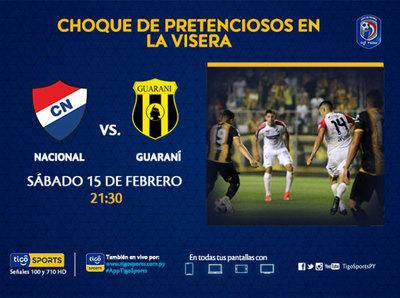Previa del partido Nacional vs. Guaraní