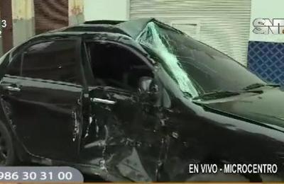Accidente de tránsito en el Microcentro