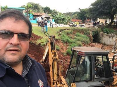 Inician obras en el Arroyo Mboreví de Piribebuy