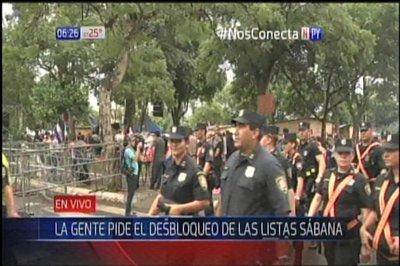 Fuerte operativo policial en inmediaciones del Congreso
