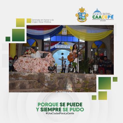 Se realizó la serenata en honor a la Virgen Rosa Mística, en el Barrio Rosa Mística de nuestra ciudad.