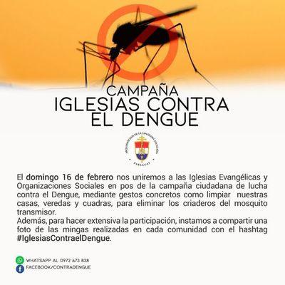 Iglesias cristianas se unirán en campaña contra el dengue